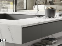 Compac Countertop kitchen Unique Calacatta COMPAC